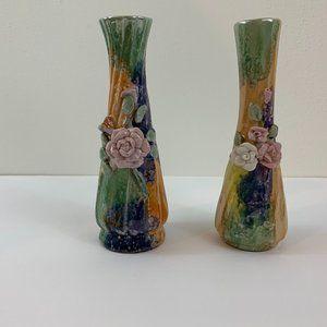 Set of vintage bud vases - ceramic